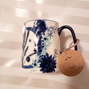 Other - Bella Navy B/White Floral Mug